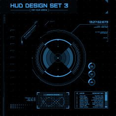 HUD and GUI set. Futuristic User Interface. vector art illustration