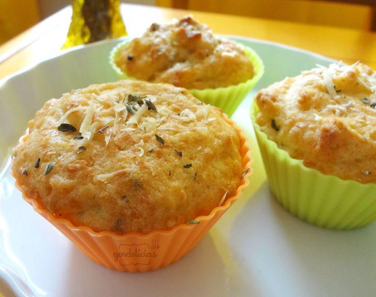 Muffin de Parmesão do Starbucks. FICA IGUALZINHO! Mais em http://gordelicias.biz.