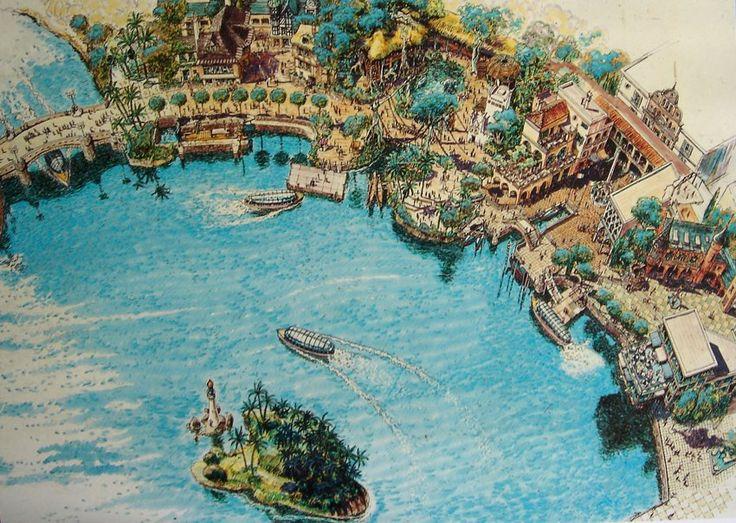 World Showcase, EPCOT Center, Walt Disney World - Harper Goff