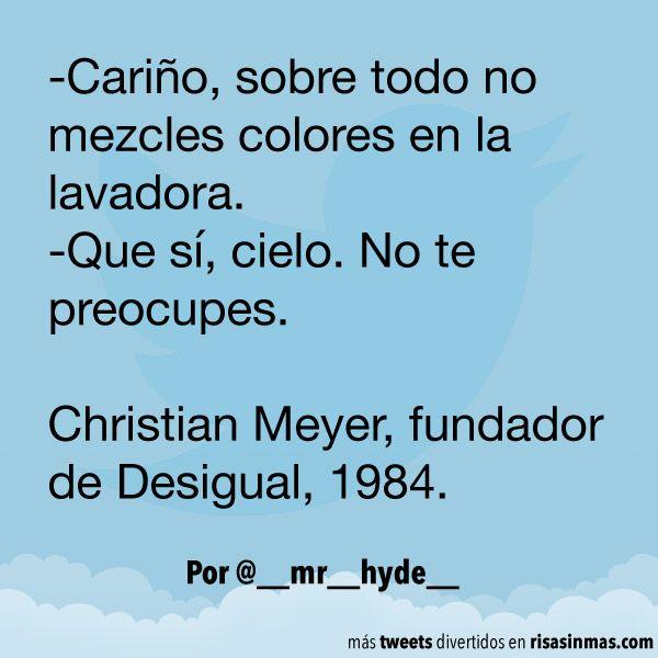 No mezcles colores en la lavadora. #humor #risa #graciosas #chistosas #divertidas