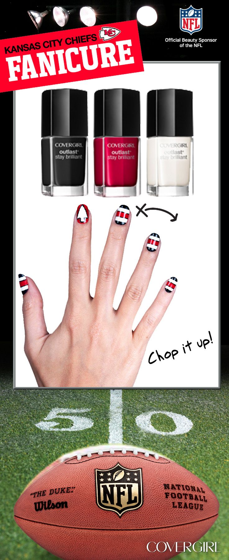 29 best Chiefs nails images on Pinterest | Chiefs game, Kansas city ...