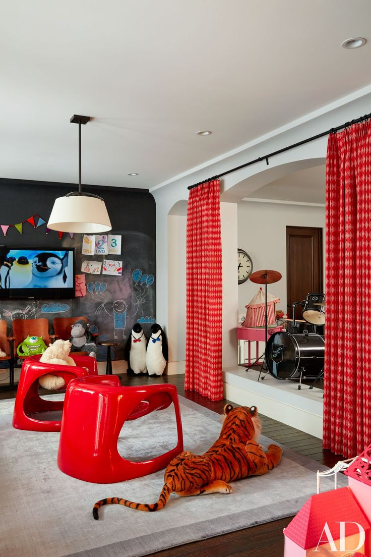 Kourtney kardashians house present in the playroom italian lounge chairs from jf