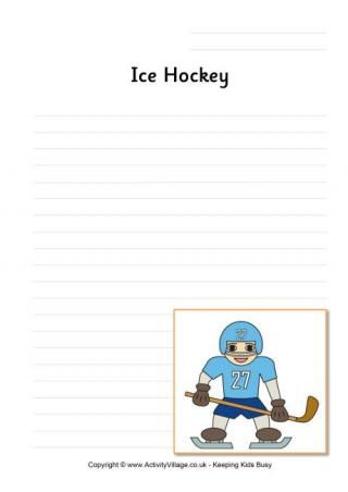Ice Hockey Writing Page