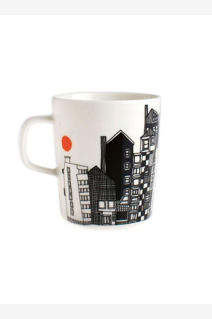 Marimekko mugs Siirtolapuutarha, 2,5 dl - White - Home & Decor - Ellos.no