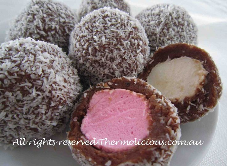Marshmallow Treats - Check out www.thermolicious.com.au for the recipe. Download the Thermolicious App from iTunes for more family friendly recipes. #Thermomix #Thermochef #Chocolate #Marshmallows #Sweets