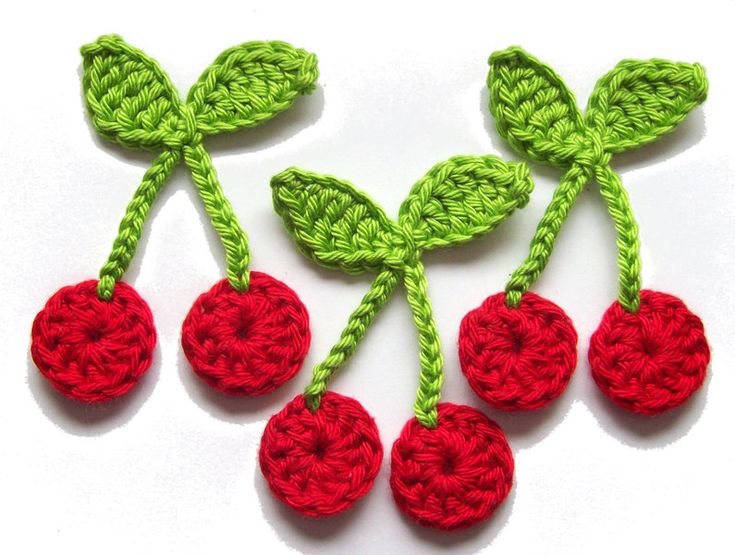 Cherry applique - I think I could make these.