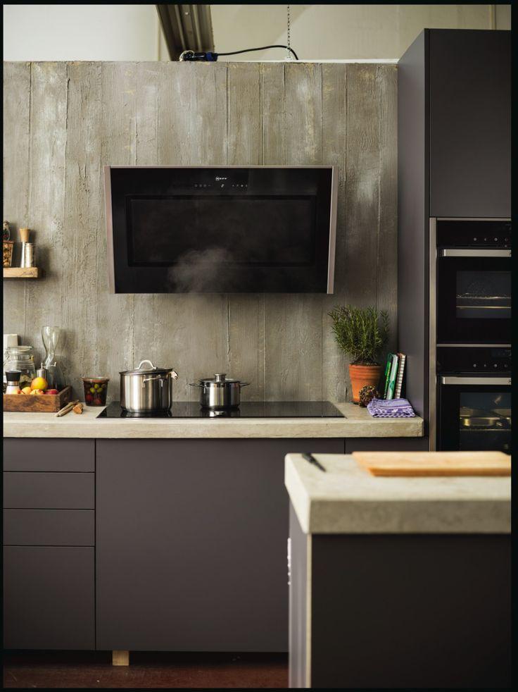 Neff diagonale design wasemschouw. Deze schouw is helemaal passend bij de ovenlijn van Neff.
