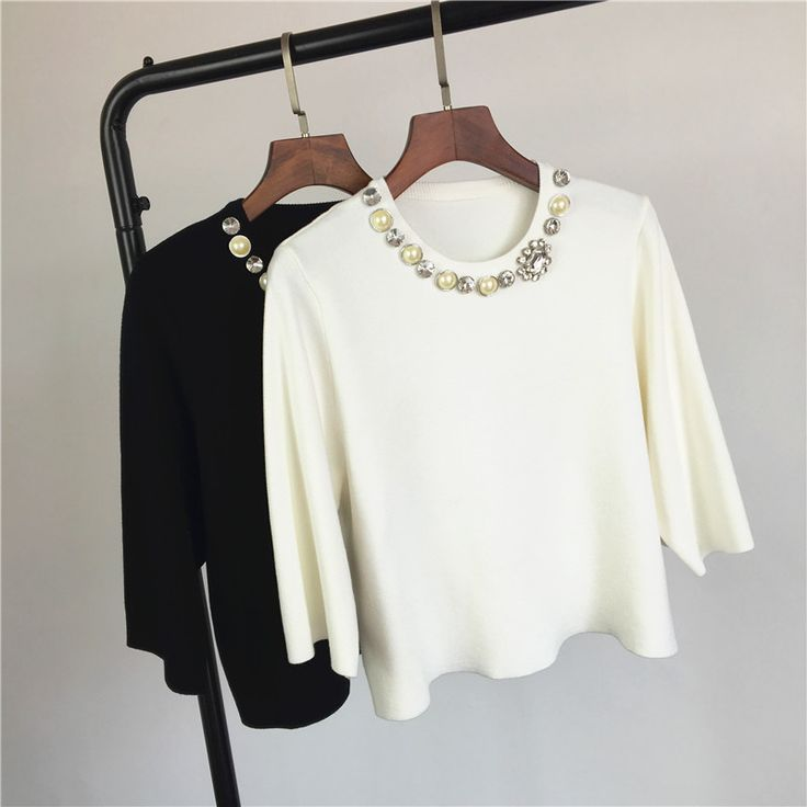 Aliexpress.com : Buy new fashion diamond pearl clasp sexy brief paragraph sweater women from Reliable fashion sweater women suppliers on May queen fashion shop