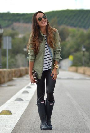 Zara  Shirt / Blouses, Zara  Clutches and Hunter  Boots
