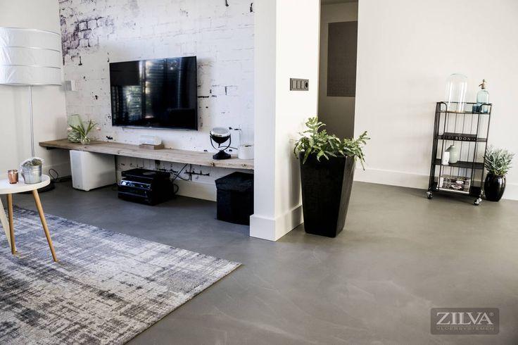 Betonfloor living : Industriële muren & vloeren van Zilva Vloersystemen