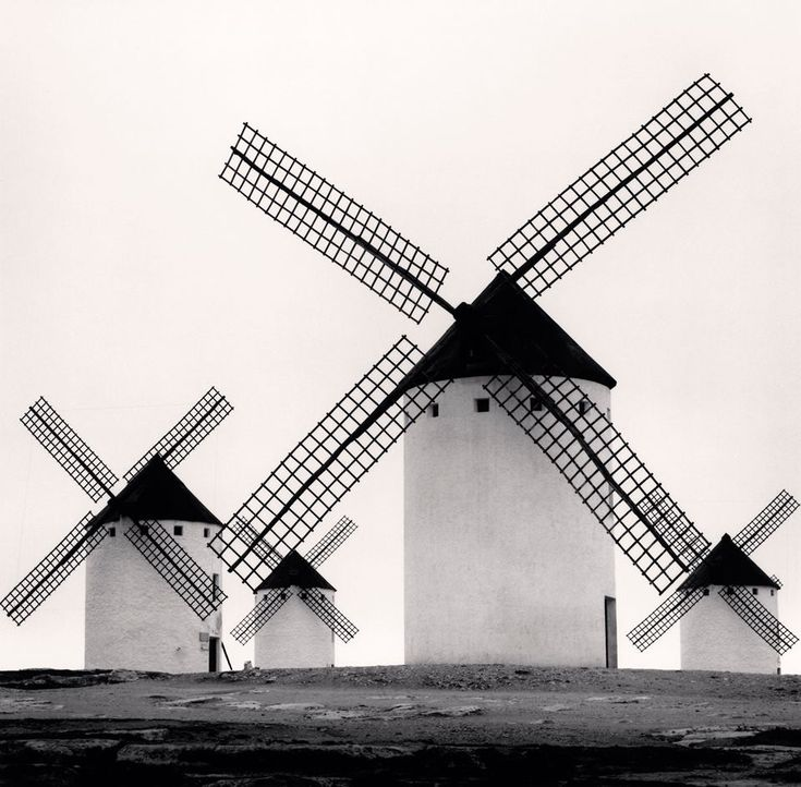 Campo de Criptana, La Mancha, ES 1996. by Michael Kenna. -repinned by California portrait photographer http://LinneaLenkus.com  #fineartphotography
