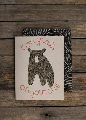 Congrats On Your Cub Card by #gingiber #babyshower #babycard