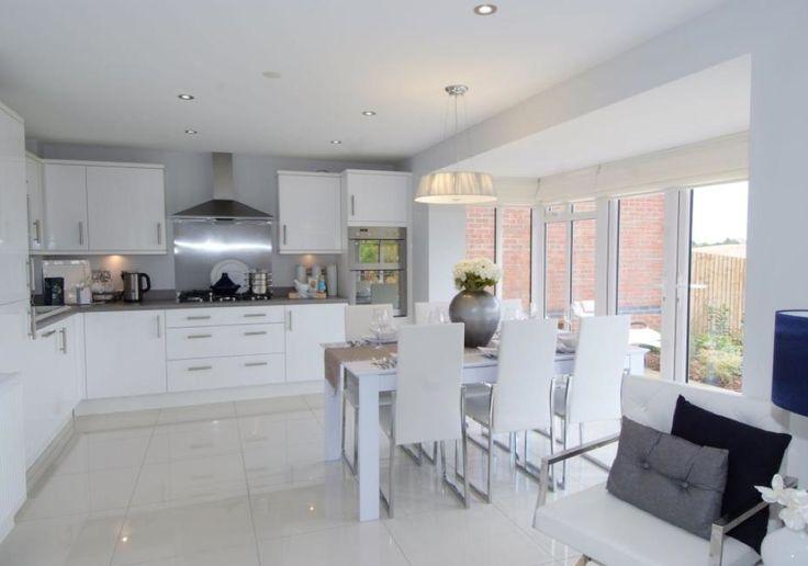 David Wilson Homes - The Larches (Offenham) Interior Designed Kitchen/Dining Room #openplankitchendiner