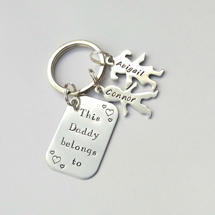 Personalised fathers day gift - personalized Dad keychain - personalised fathers day keyring, this daddy belongs to, personalised daddy gift by EmsStampedJewellery on Etsy https://www.etsy.com/listing/276730114/personalised-fathers-day-gift