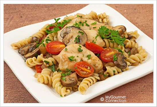 Chicken with Marsala, Tomatoes and Mushrooms | MyGourmetConnection