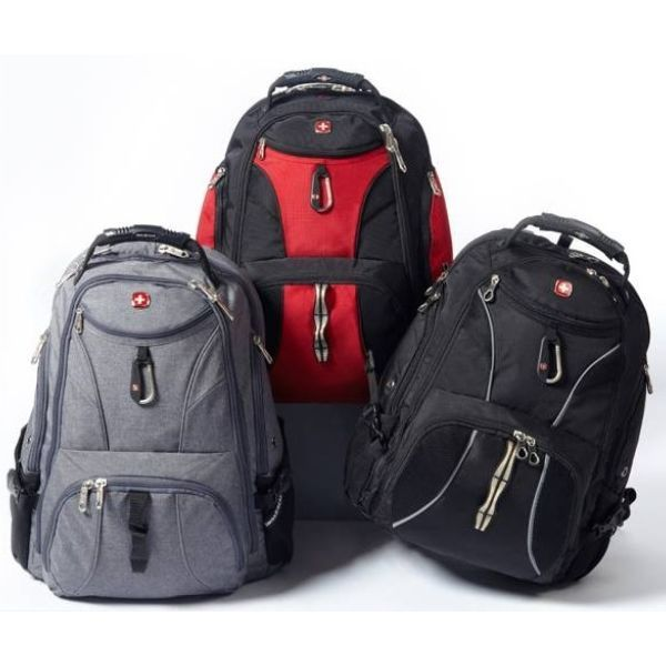 Only at eBags! Shop SwissGear Travel Gear Exclusives! You won't find these brilliant backpacks anywhere else.   An eBags shoppable collage for November 2016 featuring SwissGear Travel Gear.