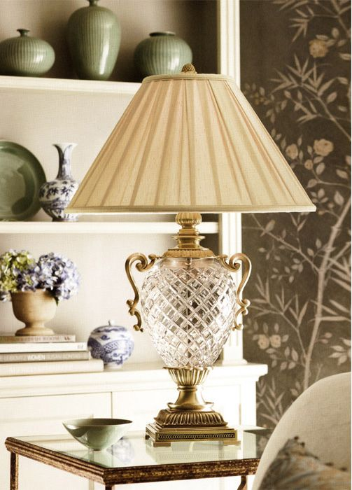Pineapple-Shaped Crystal Lamp. The Pineapple is a Southern symbol of hospitality.