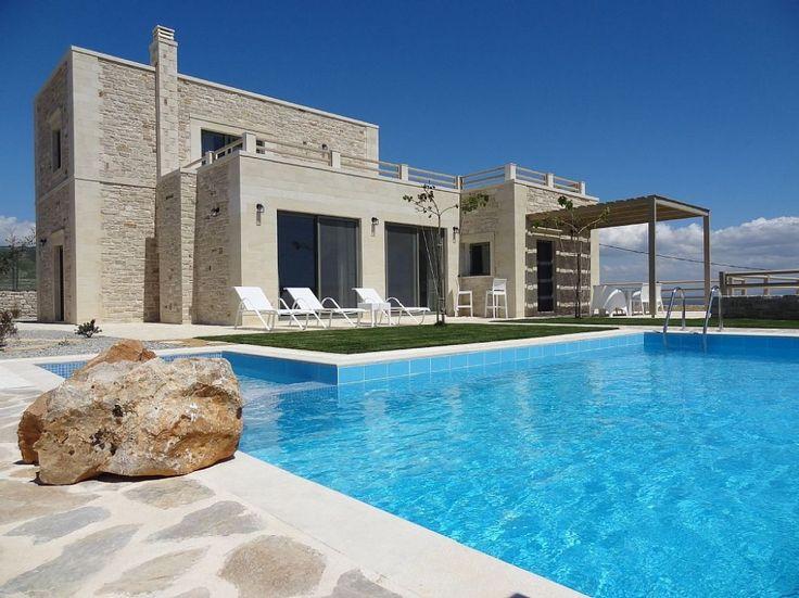 Stone built modern villa with a great sea view, Kamilari | Cretico