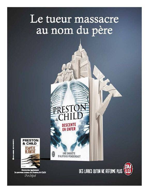 My work on a book cover, France.