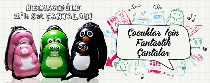 Hem okulda, hem tatilde… Çocuklar için fantastik çekçek çantalar her yerde sizinle! www.gumuskalem.com.tr