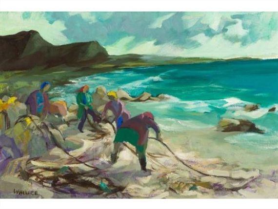 Marjorie Wallace, West Coast Fisherwomen Bringing in the Nets