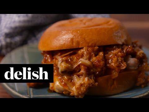 Best Cheesy Chicken Sloppy Joes Recipe - How to Make Cheesy Chicken Sloppy Joes - Delish.com
