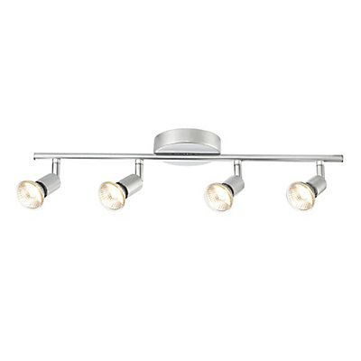 Redefine your living space Globe Electric's Payton 4-Light Track Light Kit. Made with metal, its solid construction ensures sturdiness and functionality for a long time. Its contemporary style blends well with most home décor. Extremely versatile, you can place this light kit in your kitchen, large closet or anywhere you require extra light. Includes all mounting hardware for quick and easy installation and requires four GU10 50W bulbs (sold separately).