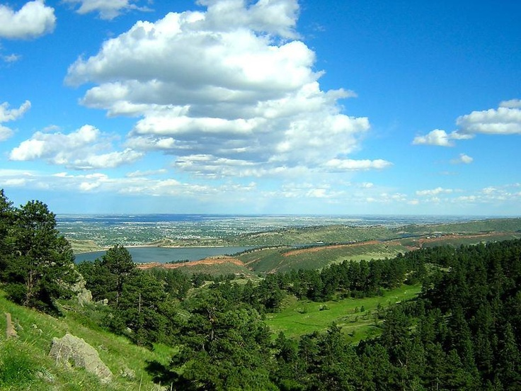 Earlier view of Folsom Lake and Sacramento horizon from Auburn Folsom Road.