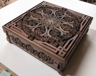 Jewelry Box Carved With Ornaments And Motifs In 2019