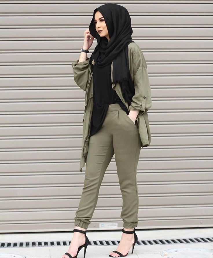 Military - pants with elastic band and heels - check out: Esma <3