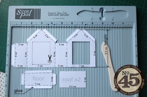 Measurements for Olga's Twelve Days of Christmas altered houses! #graphic45 #tutorials