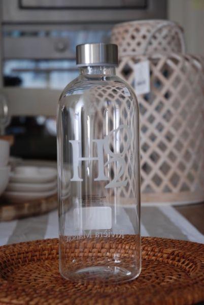 Riviera Maison Wasser Glas Flasche 1 Liter Neu Schraubverschluss