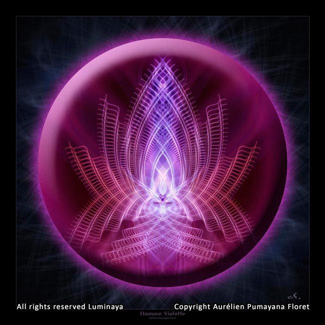 Original Mandala Flamme Violette flamme violette l'Art par Pumayana