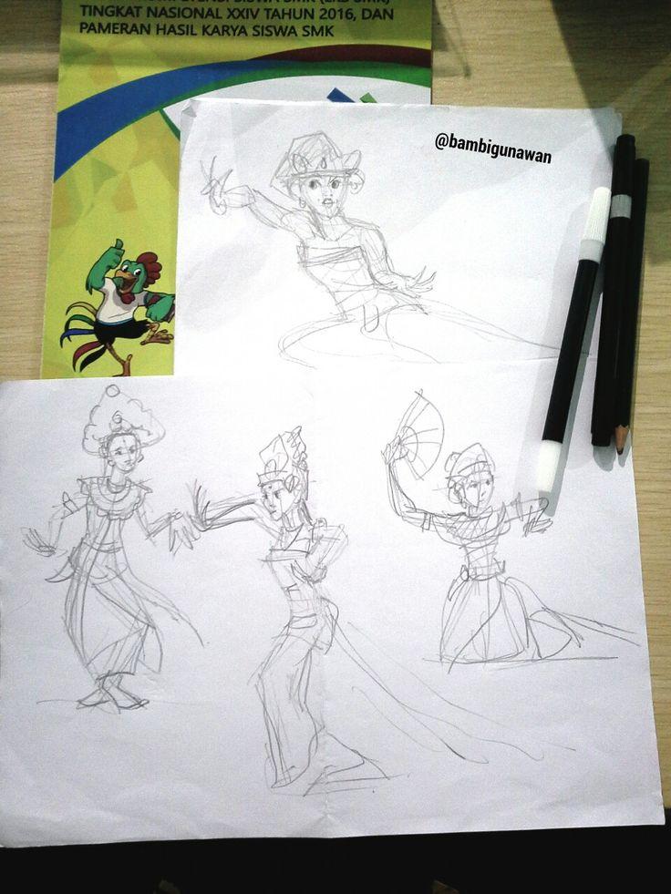 #balinesegirl #balinesedancer #bali_indonesia #karyamasbambi #doodle #sketsahitamputih #sketches #sketsa