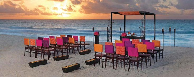 How about this wonderful setting for your wedding at Hard Rock Hotel Punta Cana?: Beautiful Destinations, Hard Rocks Hotels, Beaches Wedding Ceremony, Sol Collection, Colin Cowi, Beach Weddings, Destinations Wedding, Bright Colors, Sun