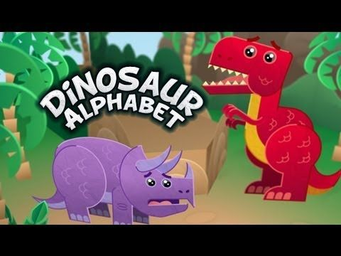 Dinosaur Alphabet Song - Kids learn the ABCs with T-Rex and other fun dinosaurs. T-Rex does tear up a bit but my nephews 1 and 2 don't notice and they love it!