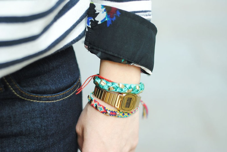bracelet, tresse, mint, www.cherie-sheriff.com/shop, by www.youmakefashion.com