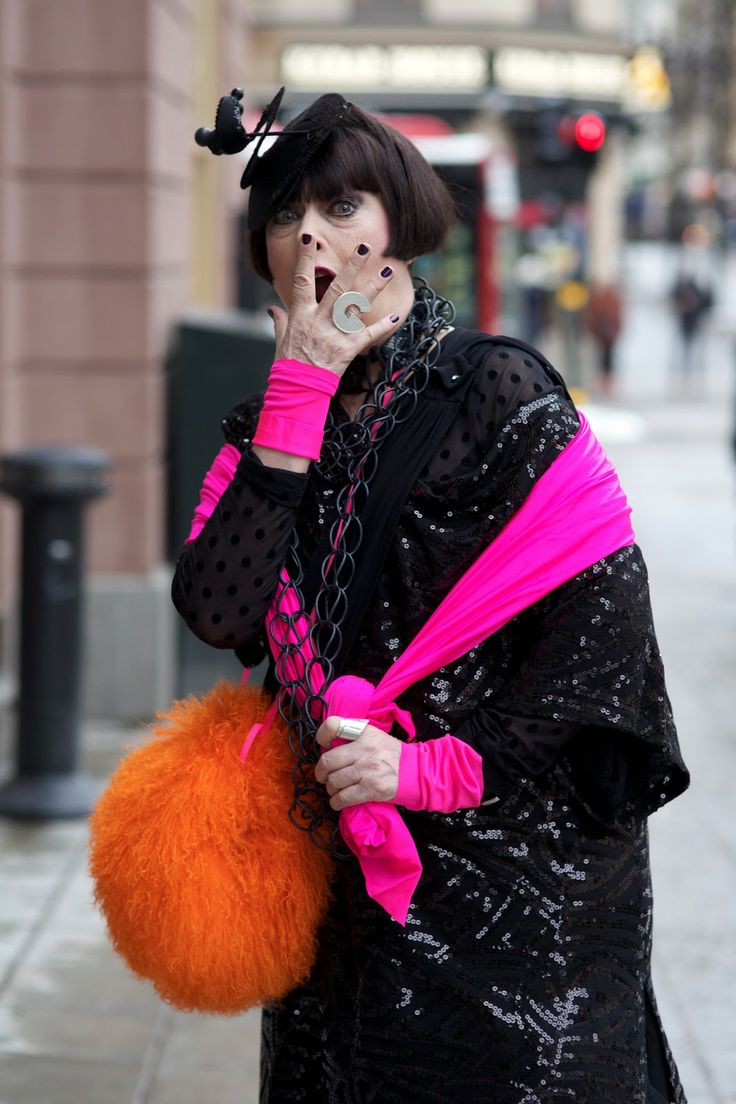 """ADVANCED STYLE: Gunilla Ponten, although I am twenty years plus younger it just remindes me we are """"mature"""" not dead and color and feeling great about yourself is where it is at!"""