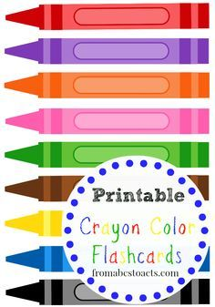 Printable Crayon Color Flashcards - From ABCs to ACTs