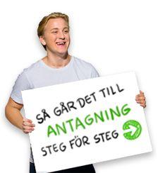 Antagning.se , samma på svenska också ;)