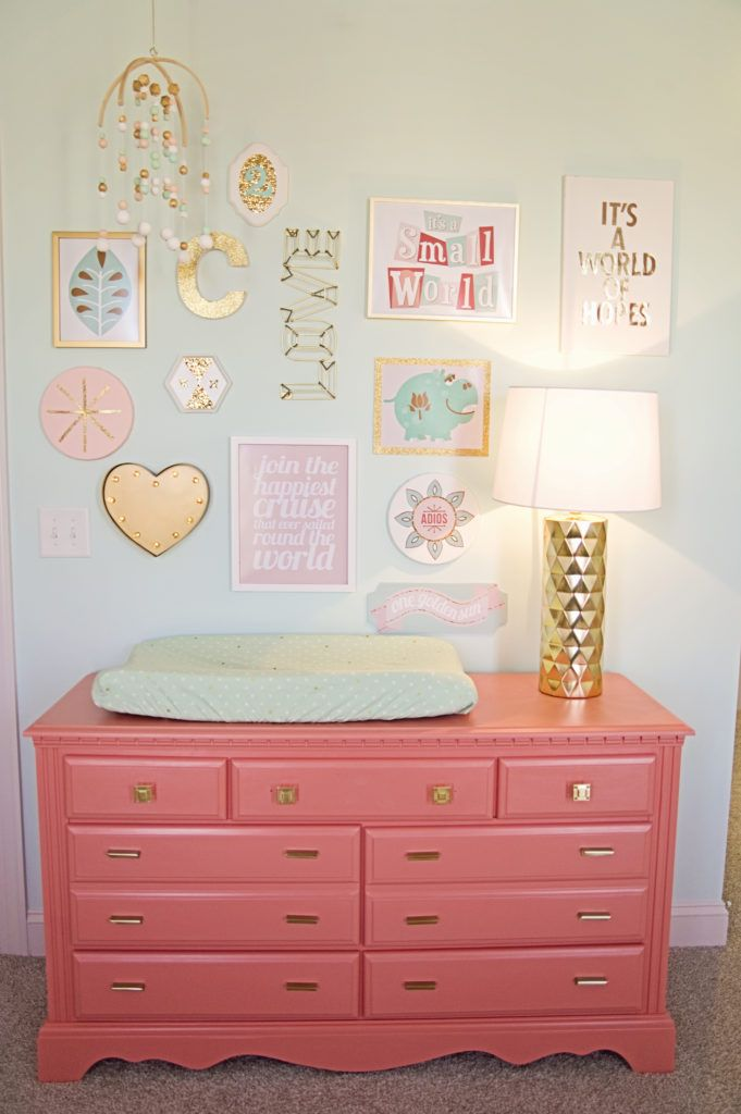 Project Nursery - like the wall color and dresser color (for changing table)