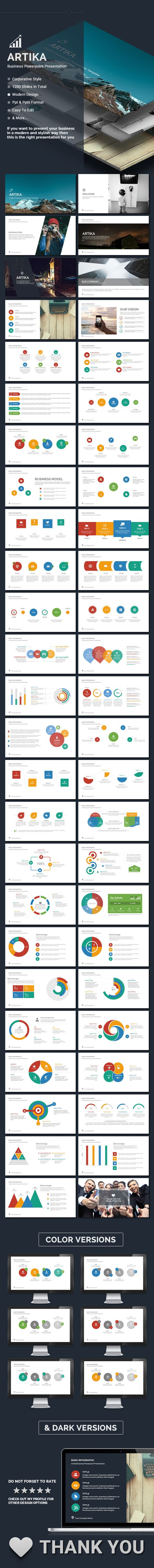 Artika - V.2 Powerpoint Template #design #slides Download: http://graphicriver.net/item/artika-v2-powerpoint/14413172?ref=ksioks