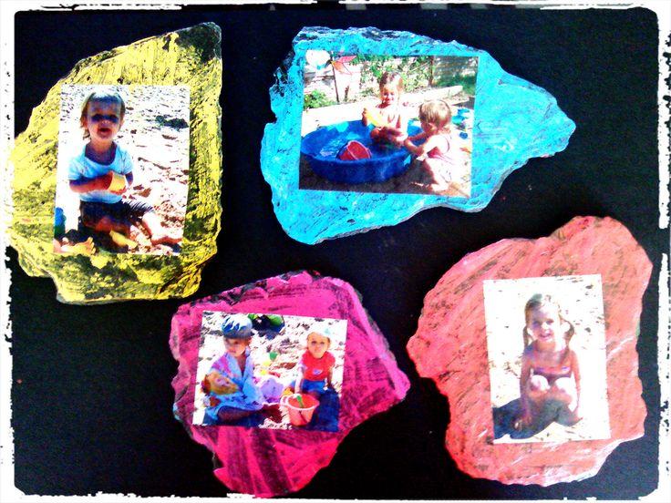 bricolage enfant, peindre sur ardoises, cadeaux à offrir