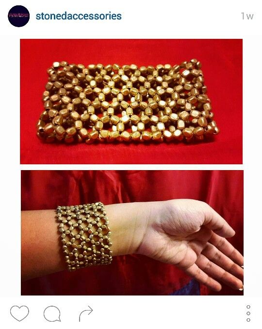 Golden web bracelet