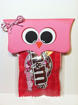 "Owl Valentines :) Maybe with a tag that says ""Owl always be your friend""... ~ Will have to do this with the huge bag for my hubby! lol"