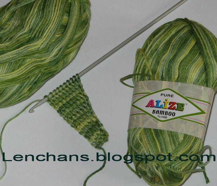 Вязание крючком от LenchaNS: Бактус в технике тунисского вязания