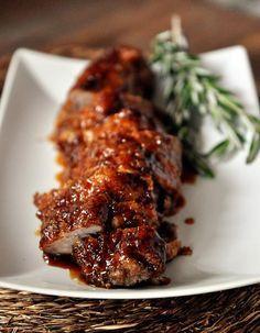 Mel's Kitchen Cafe | Roasted Maple-Glazed Pork Tenderloin