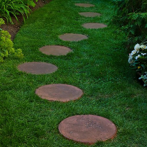 17 best images about pathway inspiration on pinterest Round wooden stepping stones