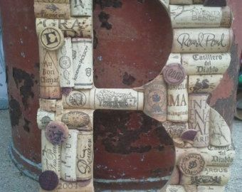 Wine Cork Letters Custom Made A thru Z. 9.5 tall by WillowMark