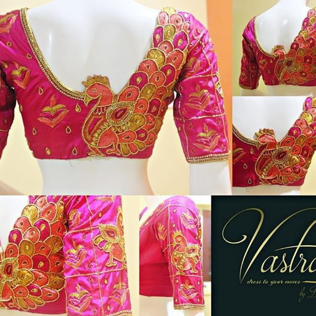 056e173ee2d8eb 30+ Trendy Blouse Back Neck Designs For Silk Sarees • Keep Me Stylish